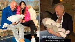 Sharon Fonseca muestra cómo su bebita, Blu Jerusalema, solo duerme en los brazos mágicos de Gianluca