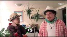 Junto a su hijo, Alexis Ojitos de Huevo disfruta de aventuras en su casa