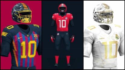 Si los clubes grandes de Europa se uniforman para jugar en la NFL, así lucirían sus indumentarias.