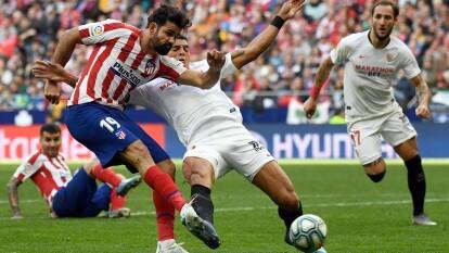El mexicano Héctor Herrera permaneció en la banca durante el encuentro que quedó igualado a dos tantos.   El Atlético de Madrid permanece en zona de Europa League.