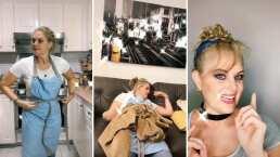 Erika Buenfil deja a un lado los mandiles y sacudidores de polvo para transformarse en una bella Cenicienta