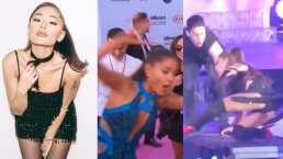 Todas las veces que Ariana Grande casi se cae en el escenario