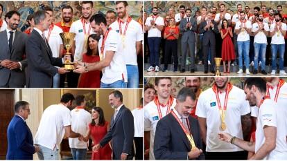 Así reconoció el rey de España a la selección campeona en el mundial de basquetbol.