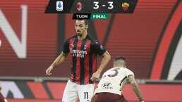 Empate entre Milan y Roma con el árbitro como protagonista