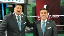 Carlos Aguilar y el 'Travieso' boxean entre los dos mientras analizan la caída de Andy Ruiz
