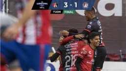 ¡Juego redondo! Atlas se luce y doblega 3-1 al Atlético San Luis