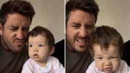 Juan Diego Covarrubias enseña a su bebita a hacer cara de viejito y es adorable