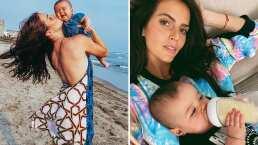 Nostálgica, Claudia Álvarez habla sobre lo difícil que es no poder ver a su bebé de siete meses por el trabajo