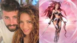 Así lucen Shakira y Gerard Piqué como dibujos animados de película