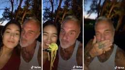 El momento en que Sharon Fonseca por poco deja sin un diente a Gianluca Vacchi