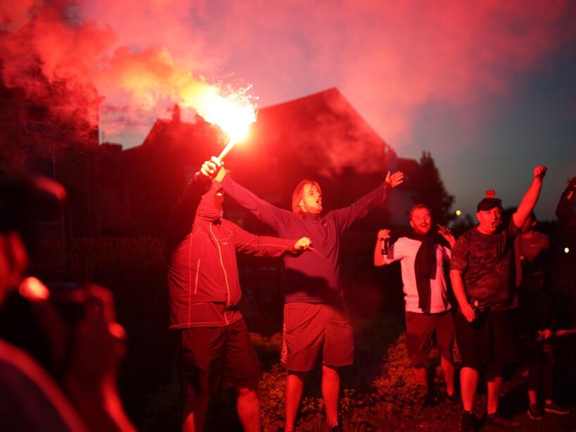 Fans Celebrate Liverpool FC Winning The Premier League Title