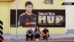 ¡MVP! Mural 'premió' la gran temporada de Carlos Vela