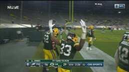 ¡Adiós! Aaron Jones se escapa 77 yardas a la zona de anotación