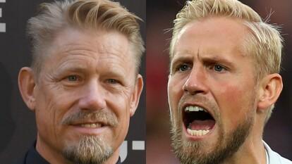 Peter y Kasper Schmeichel han defendido la portería de Dinamarca con grandes actuaciones.