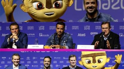 Luis Fonsi da a conocer su participación en la ceremonia inaugural de los Juegos Panamericanos, en una conferencia de prensa.