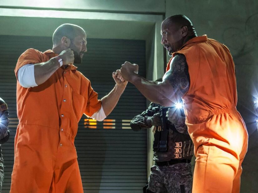 Dwayne Johnson y Jason Statham en la octava película de 'Rápidos y Furiosos'