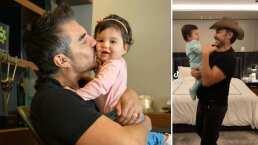 Adrián Uribe y su bebita le entran a 'La Cumbia del Tilín' y protagonizan tierno baile