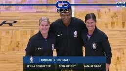 Primera vez que hay dos árbitros mujeres en un juego de NBA