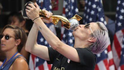 Todo mundo habló de Megan Rapinoe, la estrella que guió  la Selección Femenil de Estados Unidos a ganar el Mundial de Francia 2019.