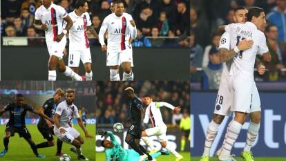 Con doblete de Mauro Icardi y triplete de Mbappé el PSG golea 0-5 al Club Brugge.