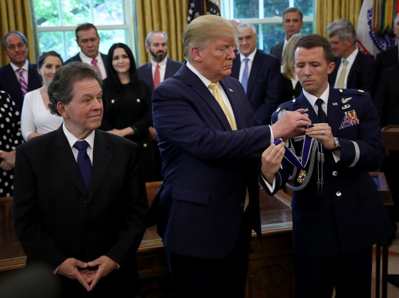 President Donald Trump Presents The Medal Of Freedom To Economist Arthur Laffer