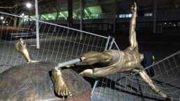 Estatua de Ibrahimovic sufre nuevo ataque vandálico