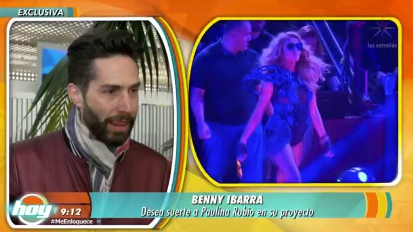 ¡Benny Ibarra le desea suerte a Paulina Rubio en su gira!