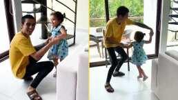 """Sergio Mayer Mori y su hija Mila enternecen al bailar juntos: """"Nunca prohiban a sus hijos convivir con su papá"""""""