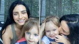 """""""No me quiero bañar"""": Kailani quiere ser la estrella en la transmisión de Aislinn Derbez a toda costa"""