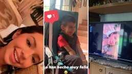 Ángela Aguilar le saca una sonrisa a mini fan luego de enviarle un saludo especial