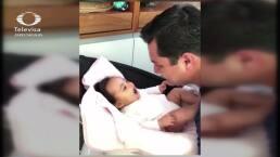 Julión Álvarez tiene emotivo momento con su hija María Isabel