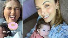 'La Jarocha' le juega broma a su bebé, Luciana, y no para de reírse con este filtro que uso en ella