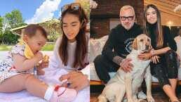 Sharon Fonseca comparte cómo la pequeña Blu juega con su perrito Olaf