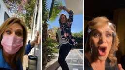 Erika Buenfil está lista para su nuevo protagónico y así presume cómo se prepara para 'Vencer el Pasado'