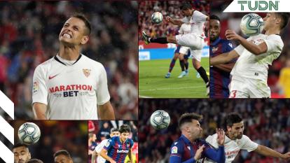 Sevilla se impone con un gol de Luuk De Jong ante el Levante; Javier Hernández es titular por primera vez en el conjunto sevillano.