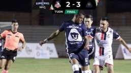 Resumen | Pumas Tabasco da la campana al eliminar a Cimarrones 2-3