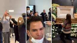 Julio Camejo despide a su madre con música, baile y un brindis: 'Porque así lo pidió'