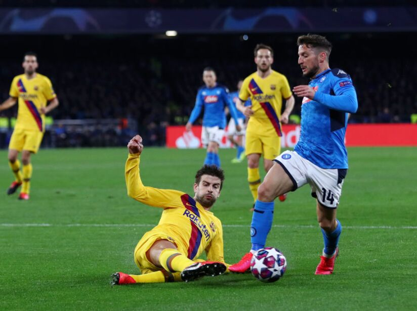 SSC Napoli v FC Barcelona - UEFA Champions League Round of 16: First Leg