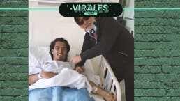 Jesús Martínez visita al Burrito Hernández en el hospital