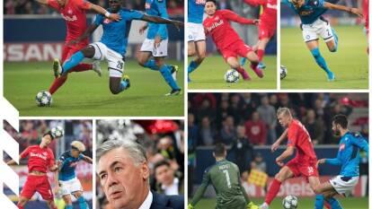 El Napoli derrota 2-3 al Red Bull Salzburg con goles de Mertens (2) e Insgine; por los locales descontó Haland (2).