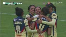 ¡Ana Gabriela Lozada celebra su partido 100 con el 2-0 de América!