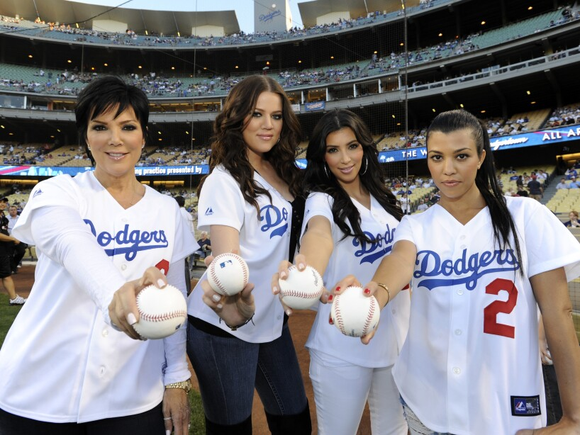 Kardashian At Dodger Stadium