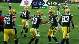Packers logra victoria 100 en la historia ante los Bears