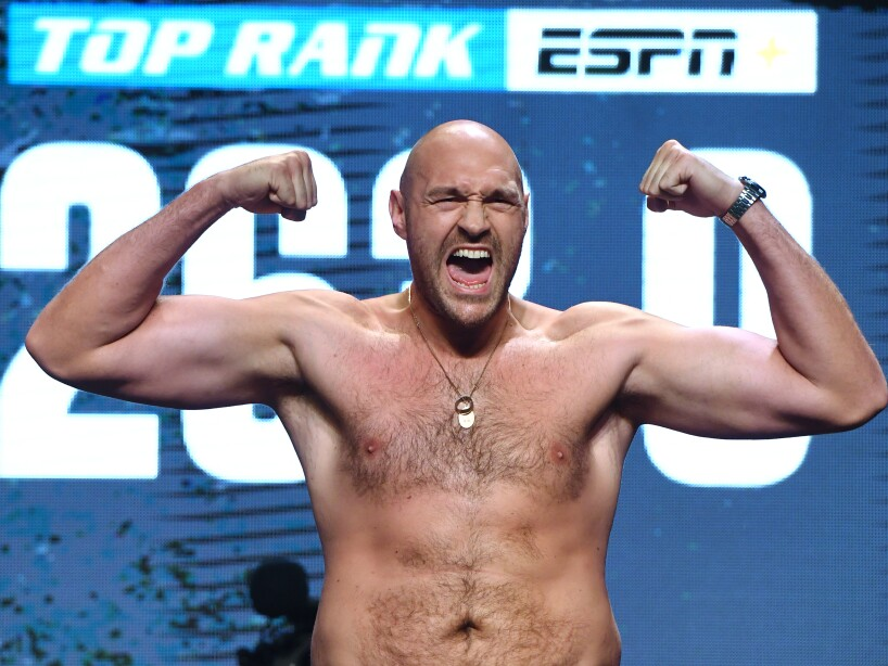 Tyson Fury v Tom Schwarz - Weigh-in