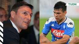 Zanetti elogió al 'Chucky' y pide tiempo para que se adapte a Italia