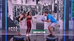 Lindsay Casinelli y Nico Cantor se lucen en la prueba fitness