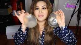 Gomita muestra los implantes de glúteos que se retiro y revela su deseo de quitarse los implantes de seno
