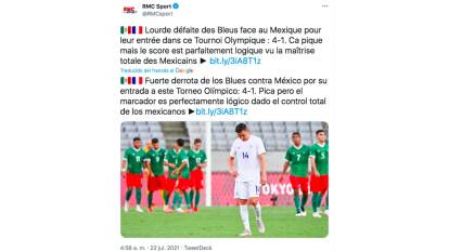 Tras perder con México, los medios en Francia destacaron la superioridad mexicana.