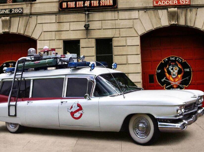 7. El Cadillac de Los Cazafantasmas: Si vas a perseguir espíritus más vale hacerlo en una camioneta mega equipada.