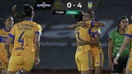 Tigres golea a Juárez y se afianza en el liderato del torneo